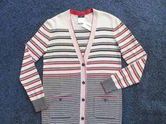 Chanel-Lightweight-Stripe-Knit-Classic-2-Pocket-Long-Cardigan-Jacket-38-NWT-13P
