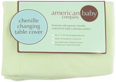 American Baby Company Heavenly Soft Changing Pad Cover - CELERY -MINKY -  BNIP  #AmericanBabyCompany