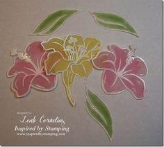 Inspired by Stamping, Leah Cornelius, Summer Flowers stamp set, Vellum Flowers tutorial
