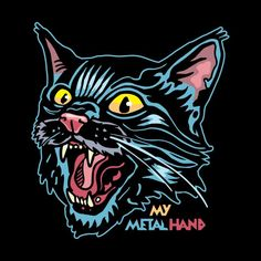 Angry Cat MMH by My Metal Hand Artist Shop Check out the design, Angry Cat MMH, on mymetalhand – available on a range of custom products Arte Punk, Cat Diseases, Cooling Blanket, F2 Savannah Cat, Angry Cat, Curious Creatures, Cat Shedding, Outdoor Cats, Arte Horror
