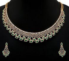 Raindrop Diamond Necklace set