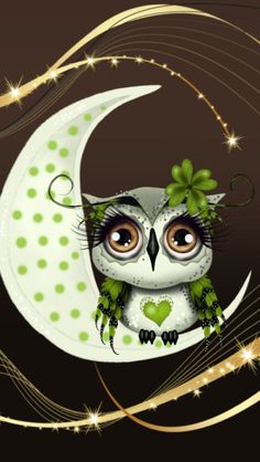 By Artist Unknown. Owl Photos, Owl Pictures, Cute Owls Wallpaper, Fall Canvas Painting, Owl Graphic, Owl Punch, Beautiful Owl, Owl Art, Baby Owls