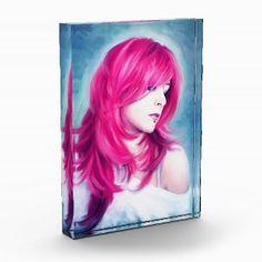 Pink Head sensual lady oil portrait painting Award #home #office #decoration #beautiful #sensual #lady #oil #portrait #painting #pink #hair #sexy #women #girl #art #award