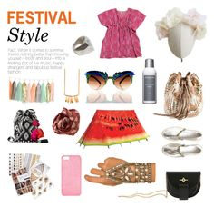 """Festival Style"" by ahalife ❤ liked on Polyvore featuring Barbara Bonner, Heather Huey, Flash Tattoos, MATERIAL MEMORIE, Lionette, Hipanema, Sachajuan, FieldCandy, Maison Takuya and Gerard Yosca"