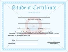 outstanding student award template