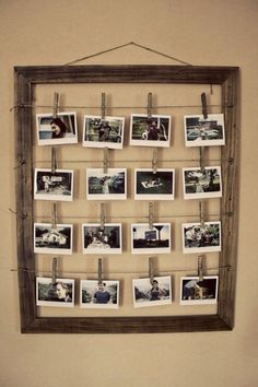 Our pictures hung up like this in the nursery would be so cute!