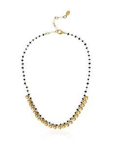 Rachel Reinherdt Blue Lapis Disc Necklace