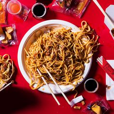 Tender lo mein noodles get tossed in a rich and spicy mapo sauce packed with plenty of pork and garlic for a truly comforting Chinese dish.