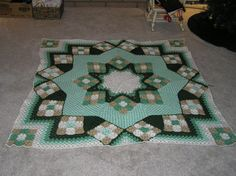 **  Inspiration:  Green Crocheted Star Quilt by CittysCrochet on Etsy, $130.00
