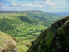 Glenariff, Glens of Antrim, Northern Ireland. Not used to seeing it from this angle as the road goes down the other side of the glen.