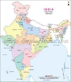 Indian Map In Hindi India Pinterest India Map India - World map image in marathi