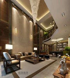 The Best Luxury Living Room Designs from Our Favorite Celebrities Dream Home Design, Modern House Design, Modern Interior Design, Luxury Home Decor, Luxury Interior, Mansion Interior, Luxury Homes Dream Houses, Luxury Living, Living Room Designs