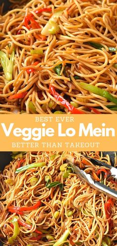Quick fix dinner under 30 mins with this easy recipe of Vegetable Lo Mein! Easy recipe of restaurant style lo mein! Quick fix dinner under 30 mins with this easy recipe of Vegetable Lo Mein! Easy recipe of restaurant style lo mein! Fun Easy Recipes, Asian Recipes, Great Recipes, Easy Meals, Favorite Recipes, Asian Dinner Recipes, Vegetable Recipes, Vegetarian Recipes, Cooking Recipes