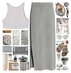 Untitled #73 by cherubim on Polyvore featuring H&M, Birkenstock, Marie Turnor, Tiffany & Co., Chanel, Balenciaga, Casetify, Christian Dior, Forever 21 and Hermès