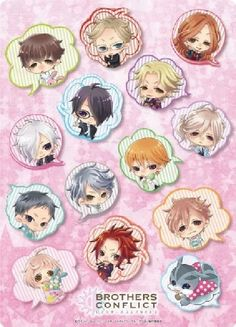 TVAnime BROTHERS CONFLICT B5ClearUnderlay chibi Chara – JTHS ~Japan Toys and Hobbies Store~