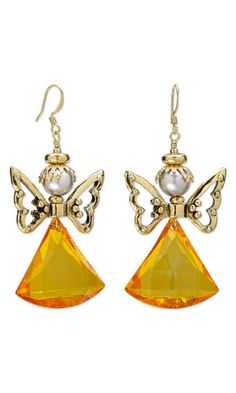 Earrings with Acrylic Focals, Antiqued Gold-Plated Pewter Beads and Glass Pearl Beads - Fire Mountain Gems and Beads