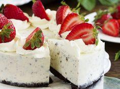 Cake without baking: Oreo cheese cake - Cake without baking: Oreo cheese cake . - Cake without baking: Oreo cheese cake – Cake without baking: Oreo cheese cake – bake ea - Oreo Cake, Oreo Cheesecake, Cheesecake Recipes, Dessert Recipes, Oreo Cupcakes, Strawberry Cheesecake, No Bake Cookies, No Bake Cake, Baking Cookies