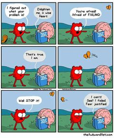 A webcomic about the Heart and Brain, inspired by the Id, Ego and Superego, it takes a funny approach to our personal differences. Are you a Heart or a Brain? - Page 3 You Make Me Laugh, Laugh Out Loud, Cute Comics, Funny Comics, Heart And Brain Comic, The Awkward Yeti, Akward Yeti, Verona, 4 Panel Life