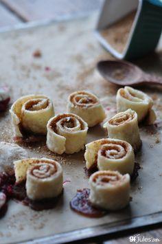 gluten free cinnamon rolls from pie dough - just like grandma used to make!  #glutenfree #vegan