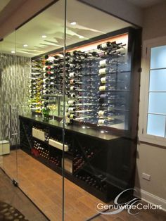Modern | Metal | Wine Cellar | Dream Home | Luxury | Wine  www.genuwinecellars.com