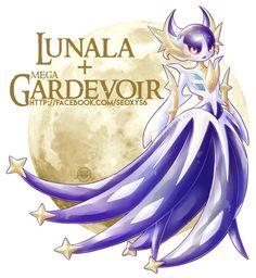 Lunala x Mega Gardevoir [open] by Seoxys6