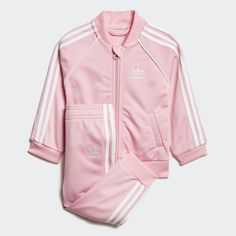 8532b976891 SST Track Suit Pink 12M Kids Baby Adidas Tracksuit, Girls Tracksuit, Boys  Tracksuits,