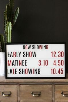 Wall Mounted Light Boxes - Cinema Matinee