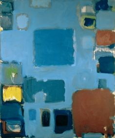 Blue Painting Novemeber december, 1958, Patrick Heron Abstract Expressionism, Abstract Art, Example Of Abstract, Patrick Heron, Amazing Paintings, Digital Paintings, Blue Painting, St Ives, Art For Art Sake