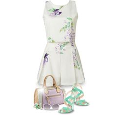 Pretty in Pastels by valsal on Polyvore featuring moda, Jimmy Choo, Christian Dior and pastels