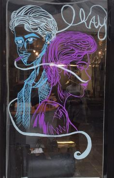 Window display at Faith hair and beauty, this was a contest for clients to guess the film/book which was 'The fault in our stars' I do not own the original artwork for this and don't know the artist but whoever you are, you rock! I painted this by hand on to the Salon window ;)