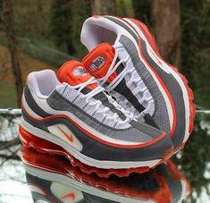 07164bafb724 Nike Air Max 24-7 Men s Running Shoes 397252-101 White Orange Grey Size