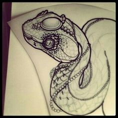 #tattoodesign #snake #detail #black&white