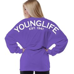 NEW Colors in stock now! Oversized Jersey Fit Young Life Tee for $49.95