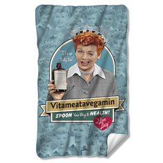 I Love Lucy Vitameatavegamin Fleece Blanket