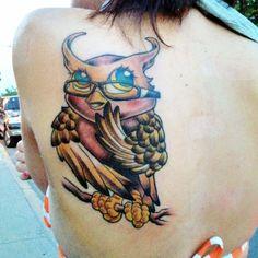 Owl tattoo owl tattoo and piercings for Tattoo artists kalamazoo mi