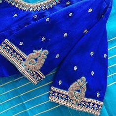 Black Blouse Designs, Simple Blouse Designs, Stylish Blouse Design, Peacock Blouse Designs, Peacock Embroidery Designs, Hand Embroidery Design Patterns, Designer Blouse Patterns, Mirror Work Blouse Design, Maggam Work Designs