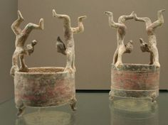 Lian with acrobats Western Han Era (206 B.C. – 9 A.D.) Terra cotta with red and black highlights