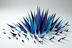3D paper spikes