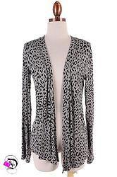 Grey Leopard Cardigan $22.99 Divalicious