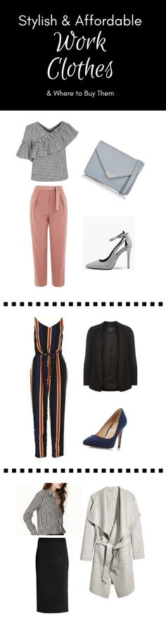 Need new work clothes? Get inspired and discover the best online shops to buy stylish, affordable work clothes. Click through post for more outfit combinations.