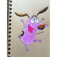 Courage the cowardly dog Cartoon Pencil Drawing, Cartoon Sketches, Disney Sketches, Disney Drawings, Cartoon Art, Art Sketches, Amazing Drawings, Colorful Drawings, Arte Disney