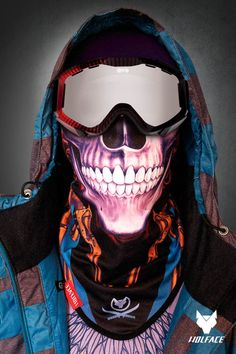Bandana Wolface  Skull Guns Bandana for riders Bandana Wolface is dedicated  to snowboarders d18e8d1af617