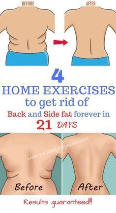 Get rid of back and side fat with this simple home exercises in just 3 weeks. Find out more on the link.