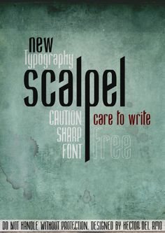 Scalpel Font - Free download