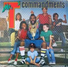 Mr. T - Mr. T s Commandments USA lp  84 synth rap soul with lyric inner