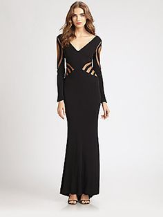ABS Inset Gown - Black    $370.00