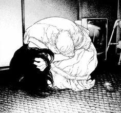scary art Black and White creep creepy head horror hands manga horror manga crazy dark manga cap woman insane psychological psycho dark art manga horror Sakamoto Shinichi heipunsun