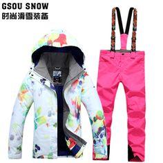New Gsou snow double deck Snowboard suit 3475119ec
