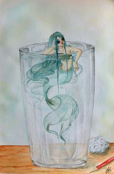 Mermaid in a Glass