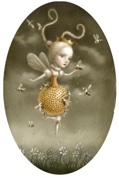 """""""The hive"""" by Nicoletta Ceccoli #nicolettaceccoli #nicoletta #ceccoli http://www.nicolettaceccoli.com/  LARGE SIZE PIC"""